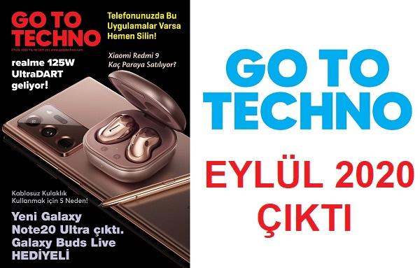 Teknoloji Dergileri GoToTechno Eylul