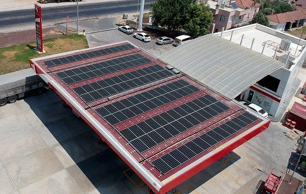 Petrol Ofisi güneş enerjili istasyon.