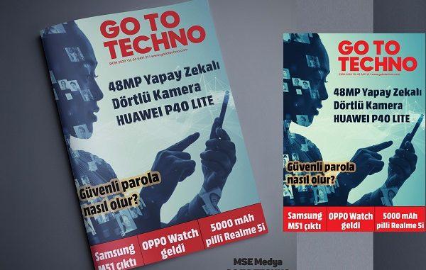 Teknoloji Dergileri GoToTechno Ekim.