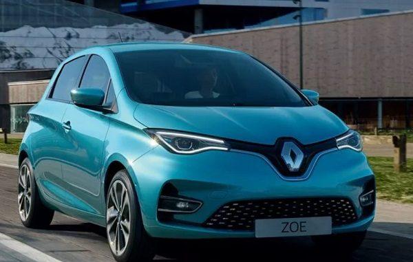 Elektrikli otomobil fiyatları Renault Zoe.