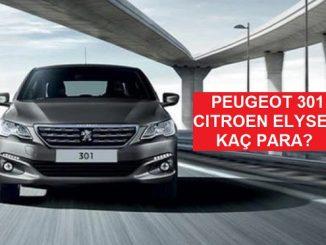 Peugeot 301 fiyat listesi Kasım.