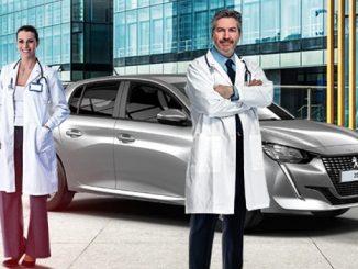 Peugeot 208 sağlık çalışanları kampanyası.