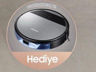 Samsung Robot Süpürge hediyesi.