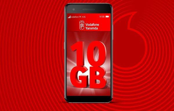Vodafone 10 GB hediye.