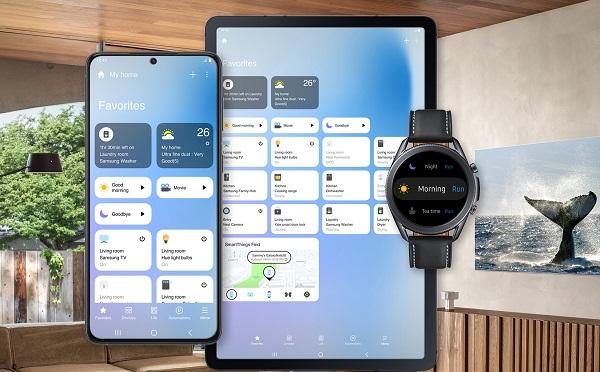 Samsung SmartThings yeni arayüz.