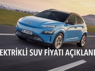 Hyundai Kona Electric fiyatı.