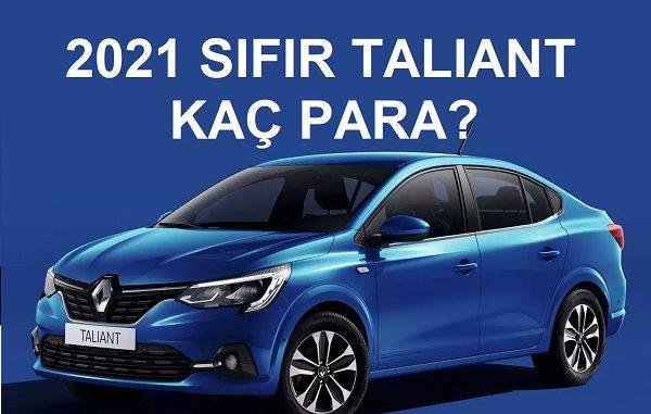 Renault Taliant fiyat listesi.