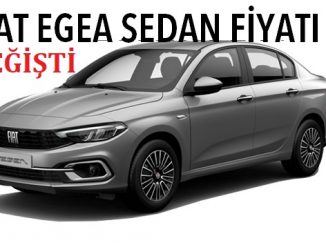 Egea Sedan fiyat listesi.