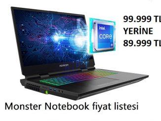 Monster Notebook fiyat listesi.